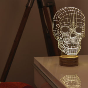 SKULL LAMP (LED)設置イメージ